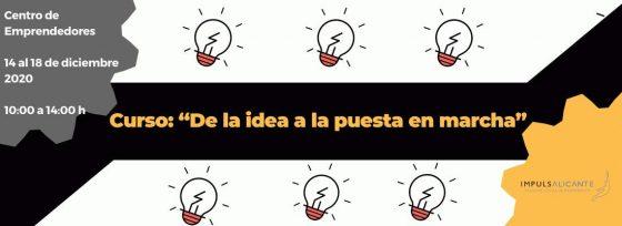 """Curso de creación de empresas: """"De la idea a la puesta en marcha"""""""